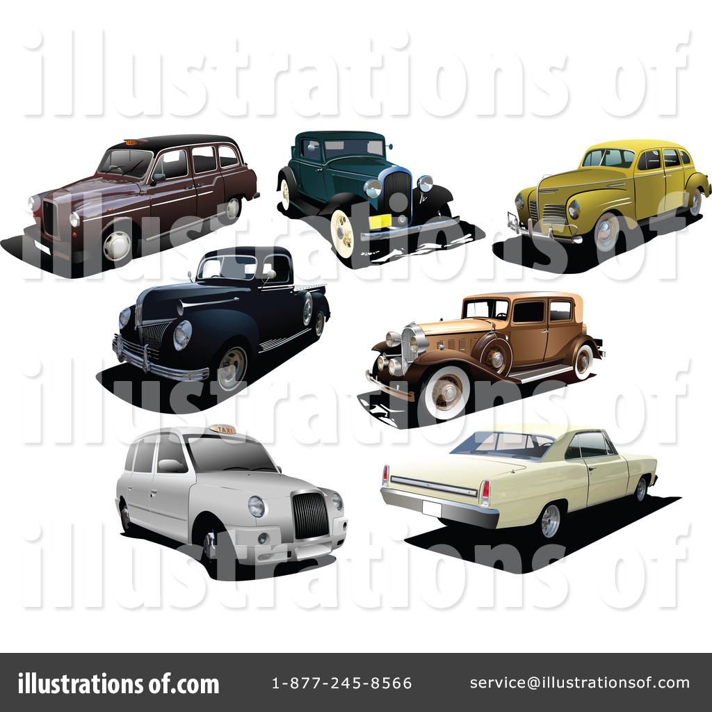 Vintage Car Clipart #79593 - Illustration by leonid