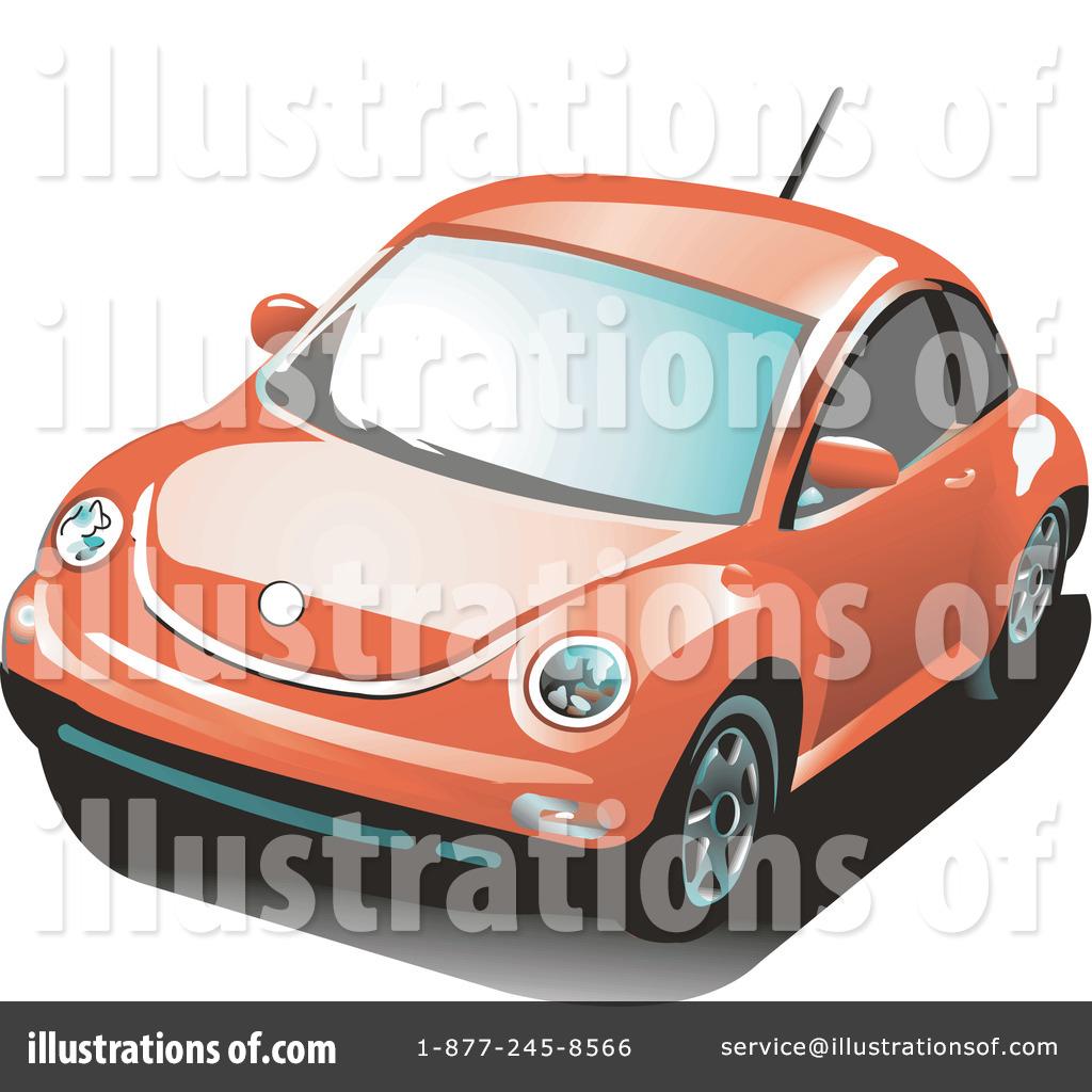 Vw Bug Clipart #32727 - Illustration by David Rey