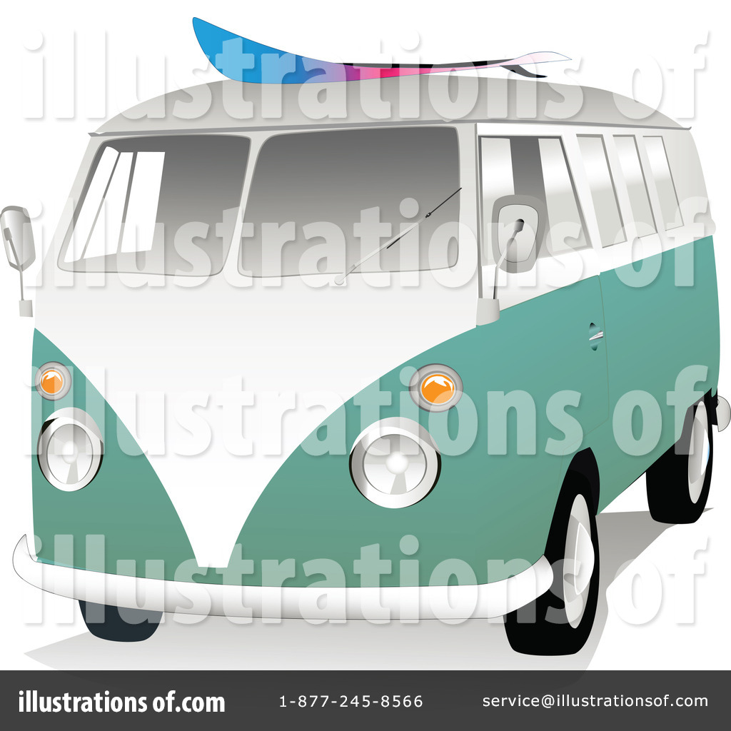 Royalty Free RF Vw Van Clipart Illustration 44295 By Toonster