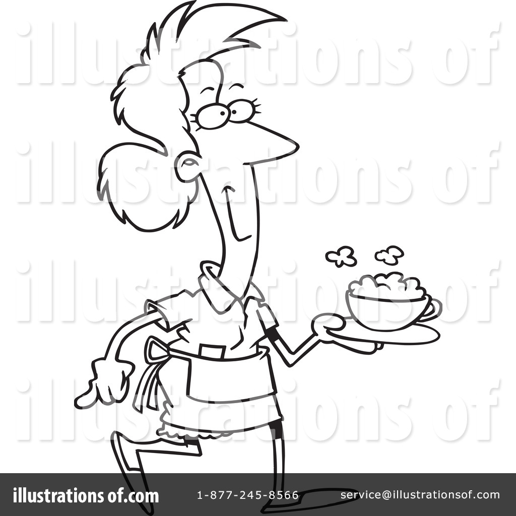 waitress coloring pages - photo#42