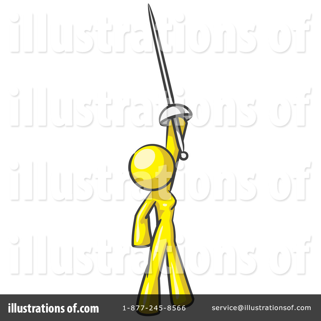 Warrior Clipart #47954 - Illustration by Leo Blanchette