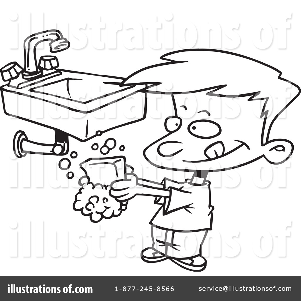 Adult Cute Hand Washing Coloring Page Images beauty washing hands clipart 434575 illustration by ron leishman royalty free rf stock sample images