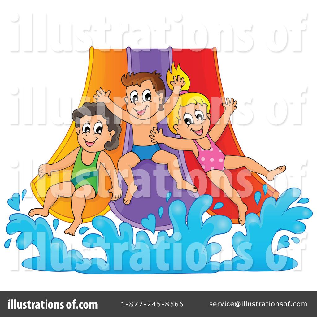 Kids Water Park Clipart Royalty-free (rf) water slide