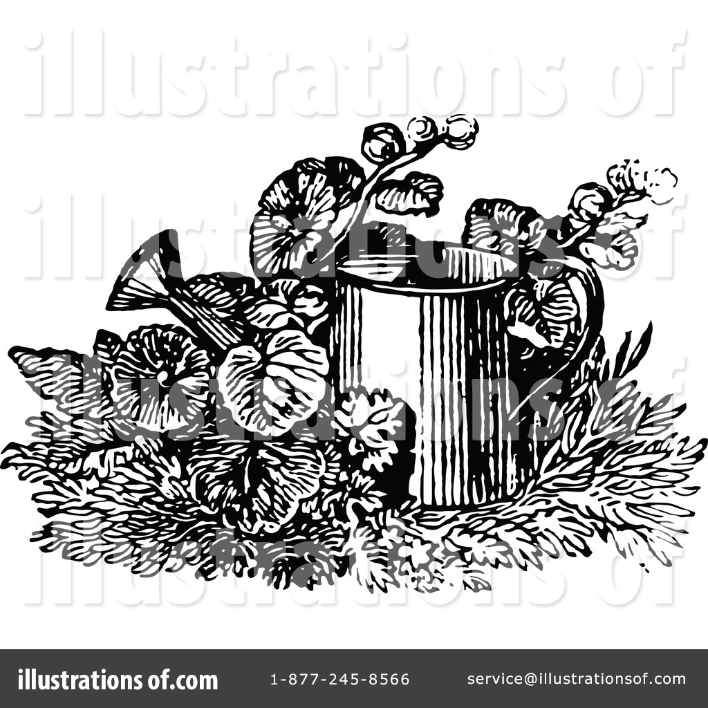 Watering Can Clipart #1149523 - Illustration by Prawny Vintage
