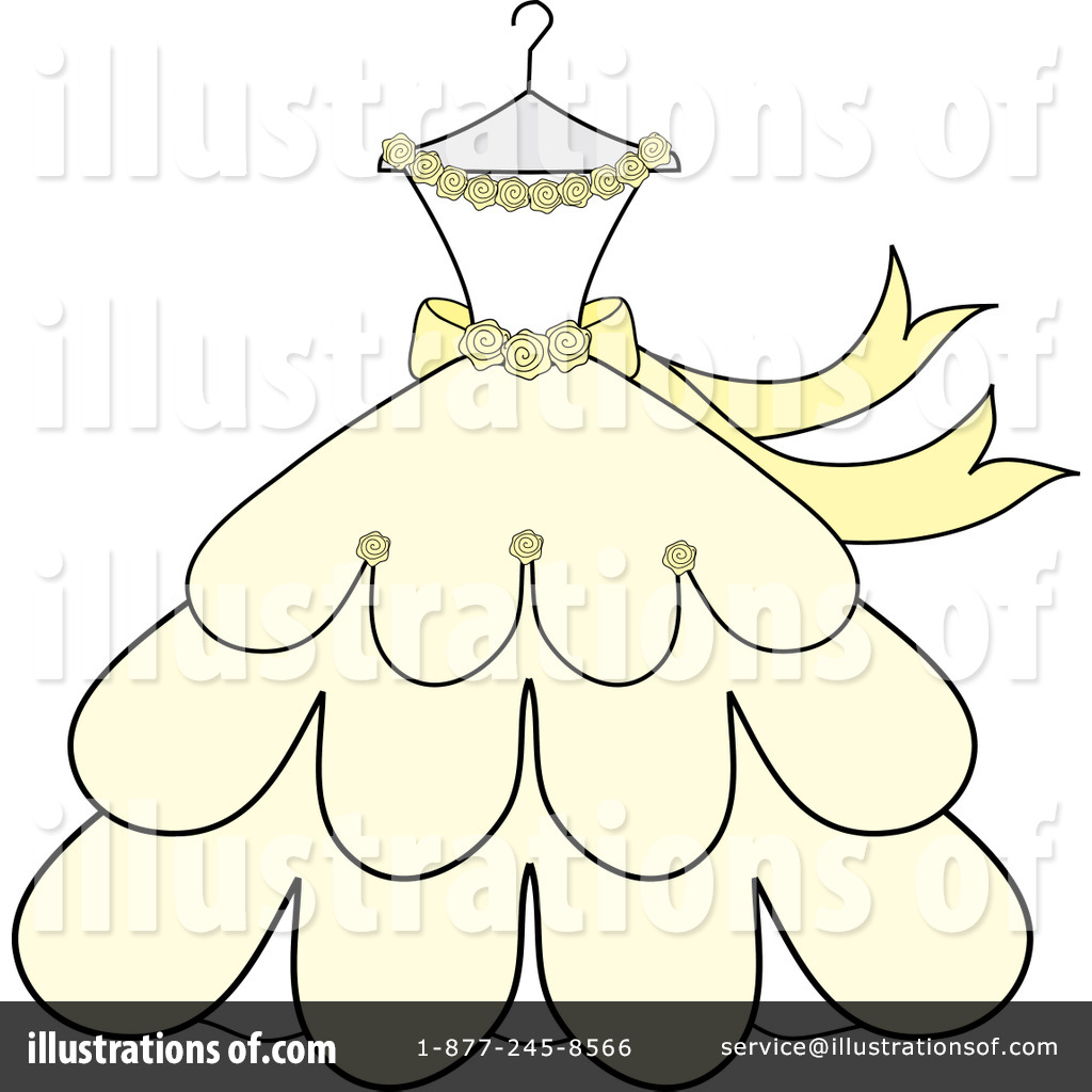 Wedding Dress Clipart 97049 Illustration By Pams Clipart