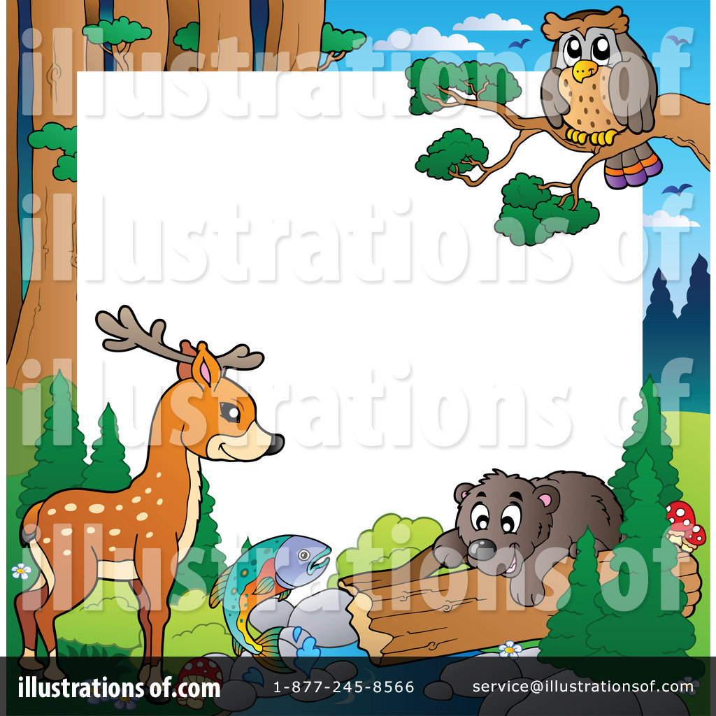 Forest Border Forest animal border