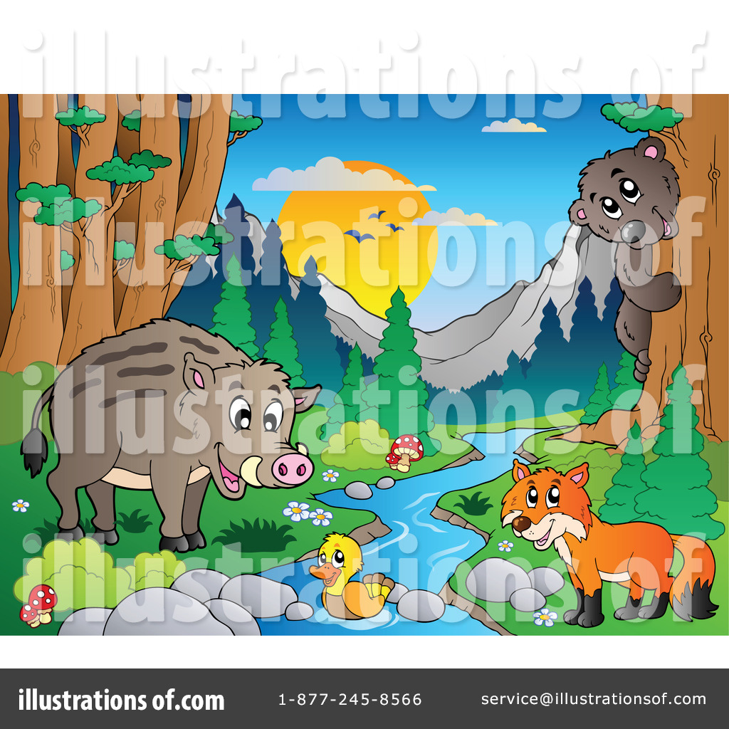 Wildlife Clipart #1067101 - Illustration by visekart
