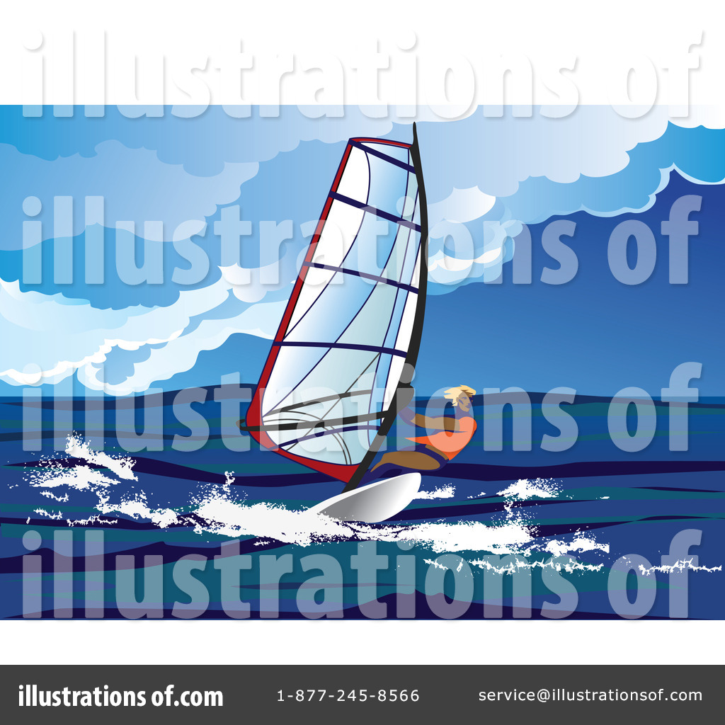 Royalty Free RF Windsurfing Clipart Illustration 37566 By Eugene