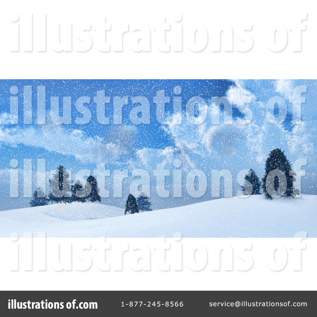Snow Storm Clip Art (rf) winter clipart