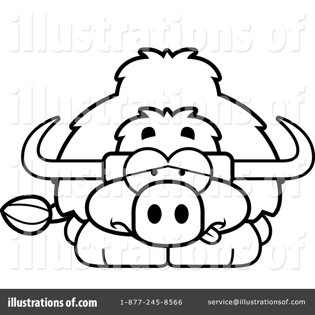 Free coloring pages yak - Royalty Free Rf Yak Clipart Illustration 1142359 By Cory Thoman
