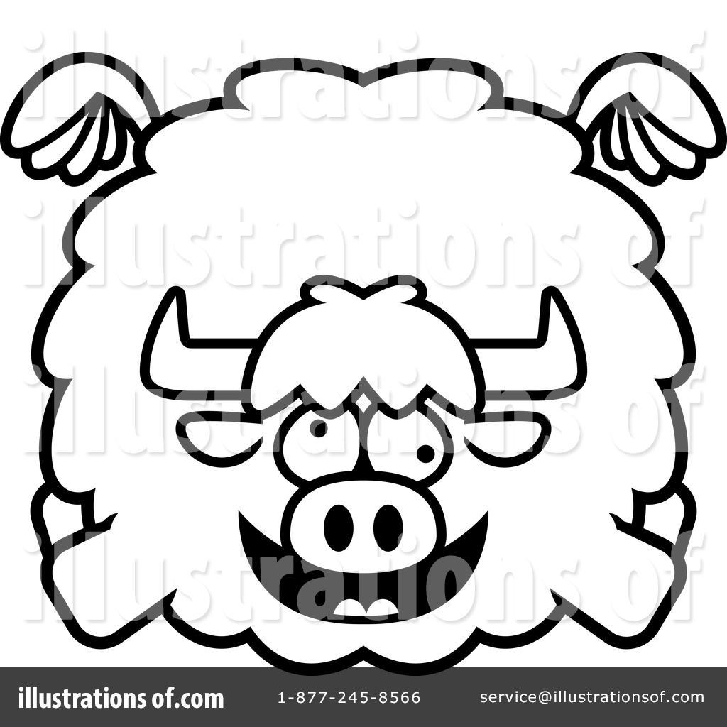 Yak Clipart #1419908 - Illustration by Cory Thoman