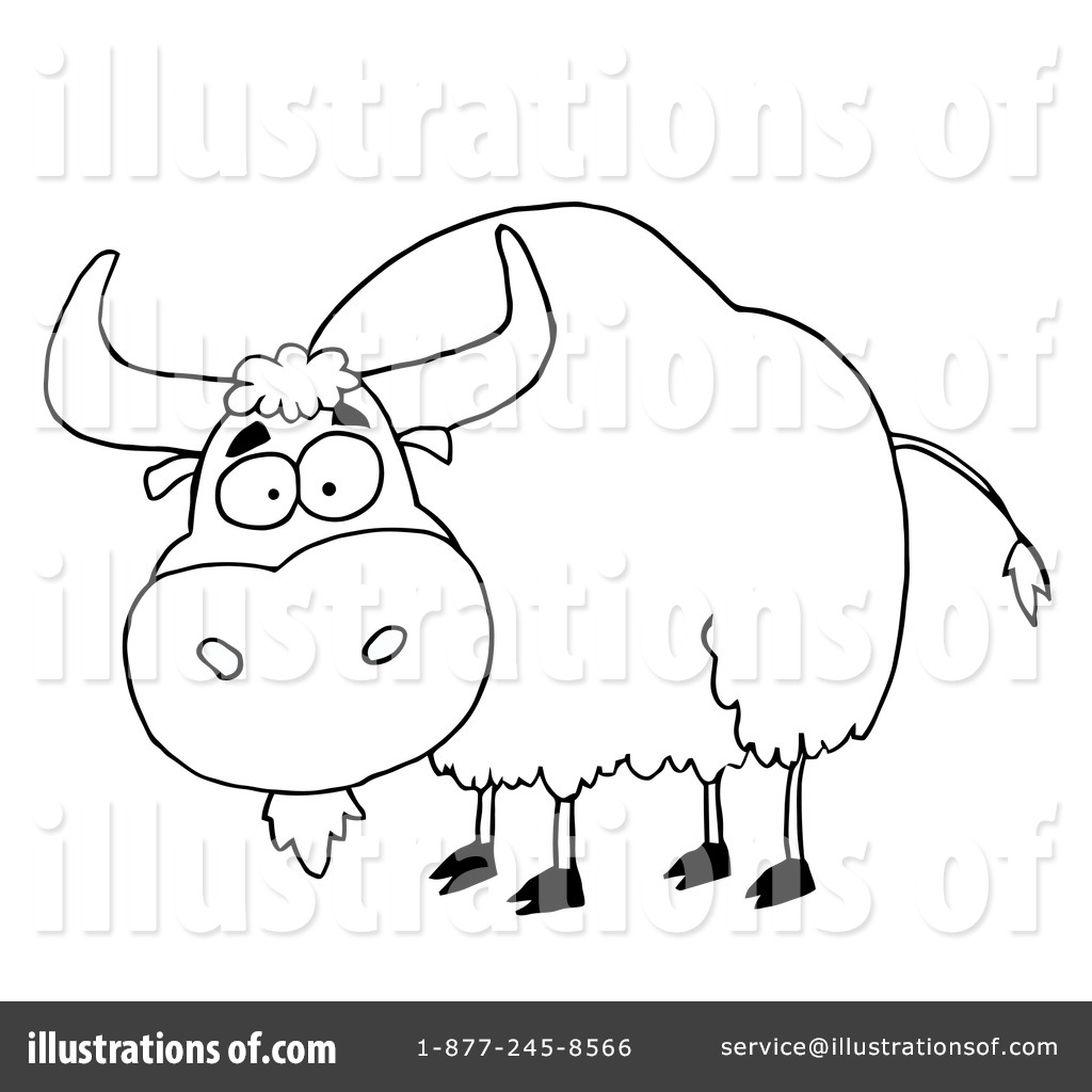 Yak Clipart #85414 - Illustration by Hit Toon