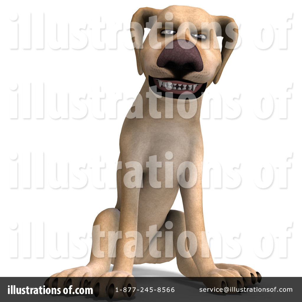 Yellow Lab Clipart #1075048 - Illustration by Ralf61