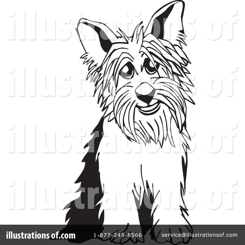 Yorkie Clipart #26504 - Illustration by David Rey
