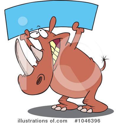 Rhino Clipart #1046396 by toonaday