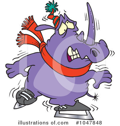 Rhino Clipart #1047848 by toonaday