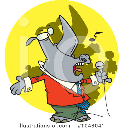 Rhino Clipart #1048041 by toonaday