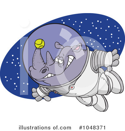 Astronaut Clipart #1048371 by toonaday
