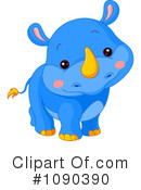 Royalty-Free (RF) Rhino Clipart Illustration #1090390
