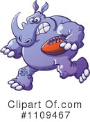 Rhino Clipart #1109467 by Zooco