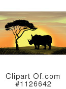 Rhino Clipart #1126642 by Graphics RF