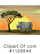 Rhino Clipart #1126644 by Graphics RF