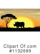 Rhino Clipart #1132689 by Graphics RF