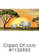 Rhino Clipart #1132693 by Graphics RF