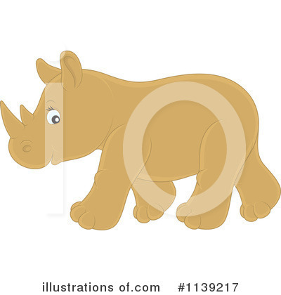 Rhino Clipart #1139217 by Alex Bannykh
