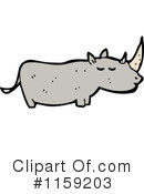 Rhino Clipart #1159203 by lineartestpilot