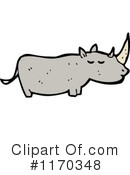 Rhino Clipart #1170348 by lineartestpilot
