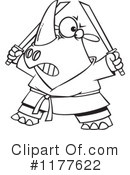 Rhino Clipart #1177622 by toonaday