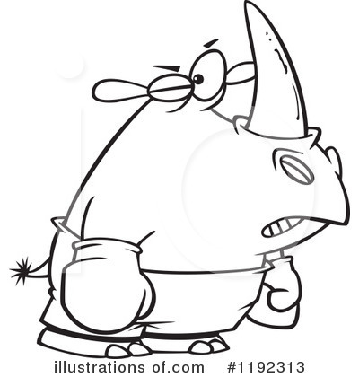 Rhino Clipart #1192313 by toonaday