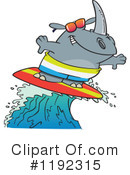 Royalty-Free (RF) Rhino Clipart Illustration #1192315