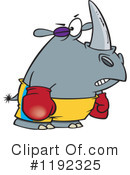 Rhino Clipart #1192325 by toonaday