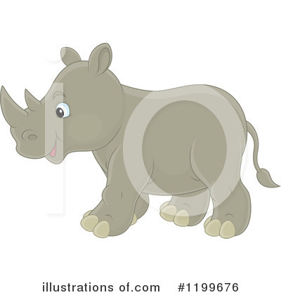 Rhino Clipart #1199676 by Alex Bannykh