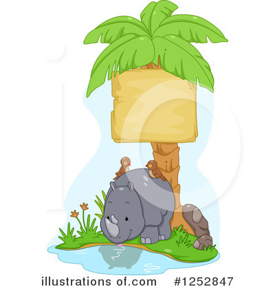 Rhino Clipart #1252847 by BNP Design Studio