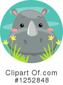 Rhino Clipart #1252848 by BNP Design Studio