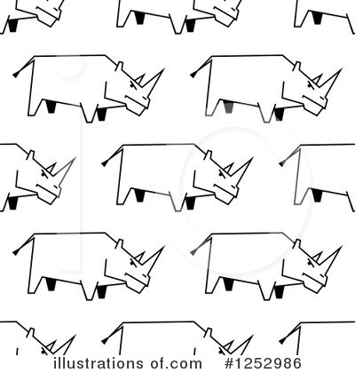 Rhino Clipart #1252986 by Vector Tradition SM