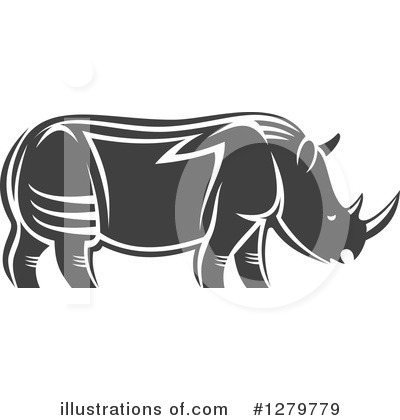 Rhino Clipart #1279779 by Vector Tradition SM