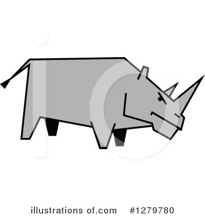 Rhino Clipart #1279780 by Vector Tradition SM