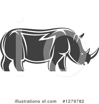 Rhino Clipart #1279782 by Vector Tradition SM