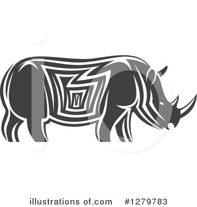 Rhino Clipart #1279783 by Vector Tradition SM