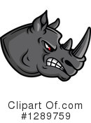 Rhino Clipart #1289759 by Vector Tradition SM