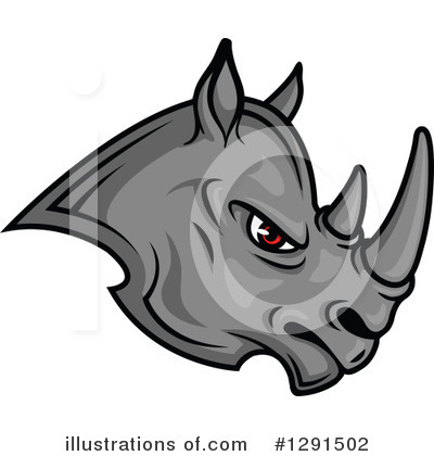 Rhino Clipart #1291502 by Vector Tradition SM