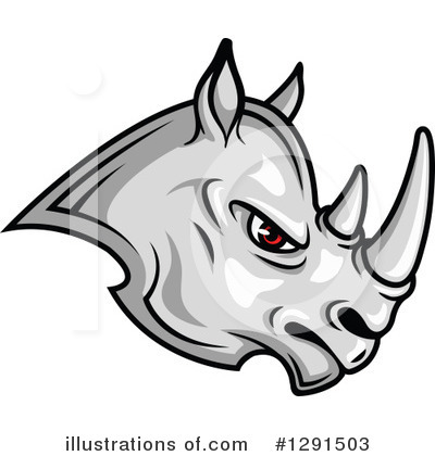 Rhino Clipart #1291503 by Vector Tradition SM