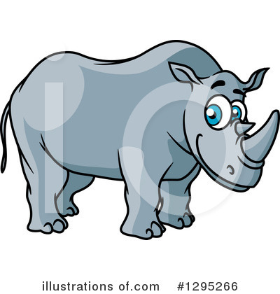Rhino Clipart #1295266 by Vector Tradition SM