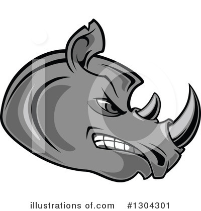 Royalty-Free (RF) Rhino Clipart Illustration by Vector Tradition SM - Stock Sample #1304301