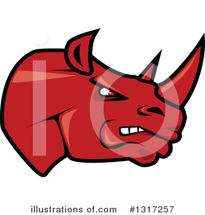 Rhino Clipart #1317257 by Vector Tradition SM