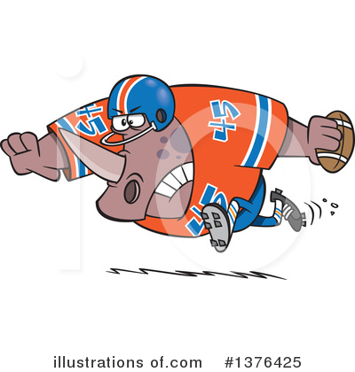 Football Player Clipart #1376425 by toonaday